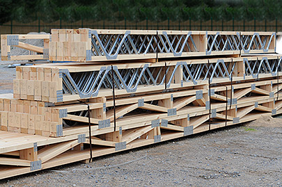 Roof and floor trusses timco timber for Pre made roof trusses
